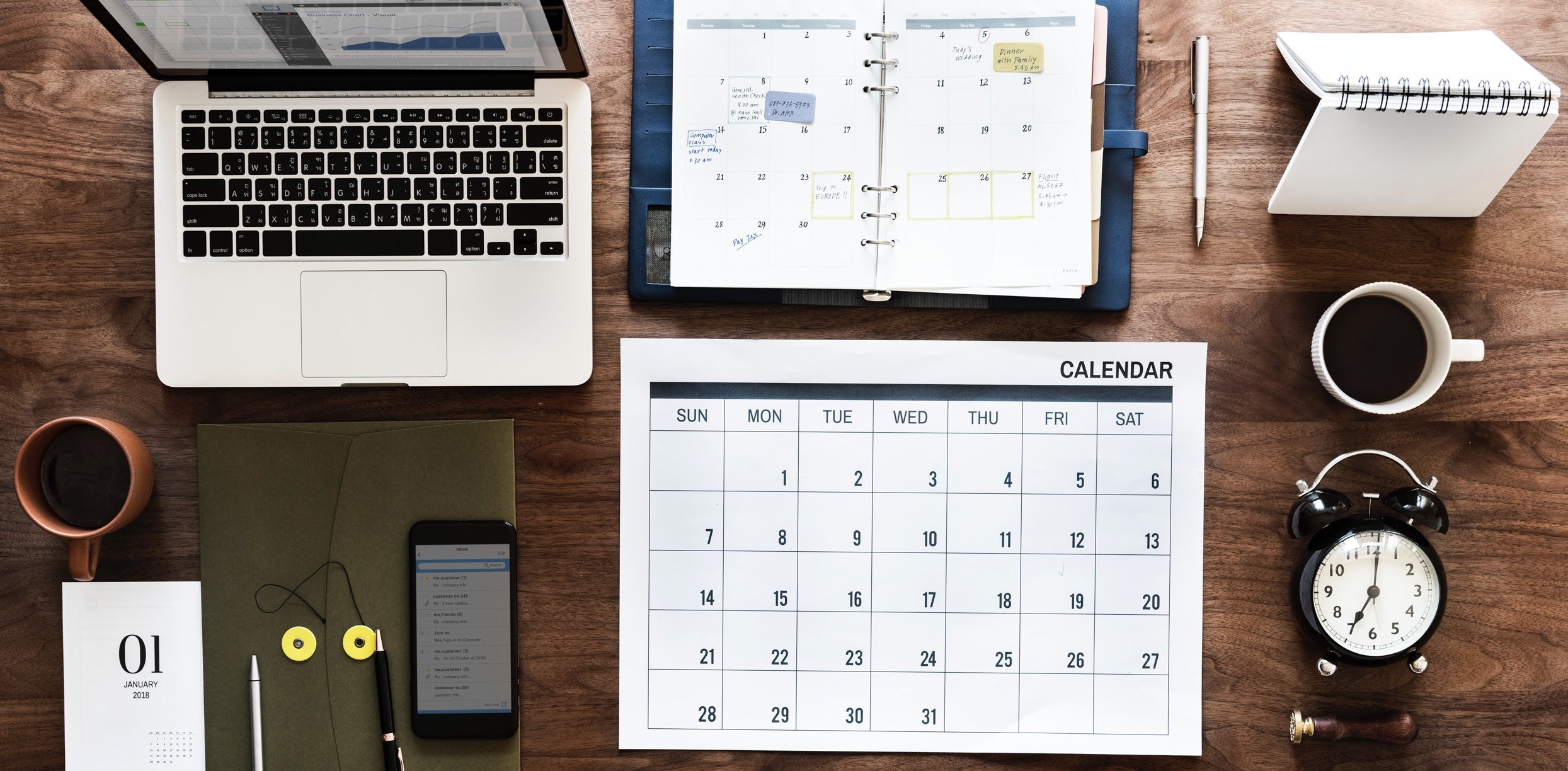 Life Admin Life Hacks set up a shared calendar